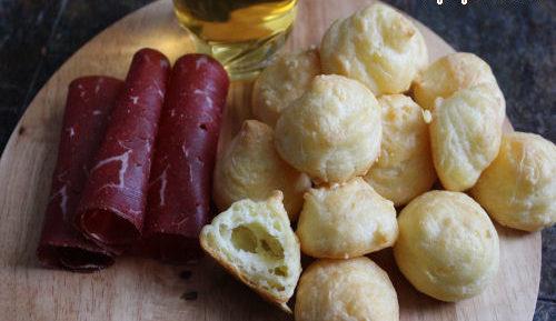 Gougères au fromage variante à la crevette