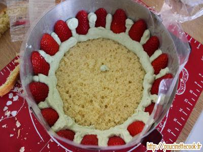 fraisier crème diplomate pistache